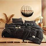Streifen Bettwäsche-Sets Schwarz Bettbezug Kissenbezug Bett Flachbettwäsche Luxus Bettbezug-Sets Twin Full Single King Boys Bettwäsche-1