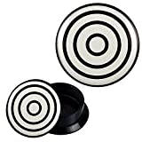 Schraub Plug Acryl schwarz weiß Zielscheibe Piercing Ohrschmuck 20 mm