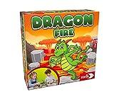 Noris 606064479 - Dragon Fire, das Geschicklichkeitsspiel mit Einsturzpotenzial, Für 2-4 Spieler ab 4 J