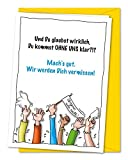 XXL Karte zum Abschied von Kollegen oder Freunden in Rente, Ruhestand, Umzug, Ausland, Firmenwechsel - Grußkarte inkl. Umschlag (DIN A4)