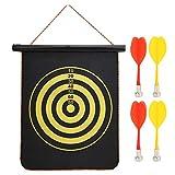 Doppelseitige magnetische Dartscheibe zum Aufhängen, Dartscheibe mit Dartscheiben, Spielzeug für Erwachsene und Kinder, 37 x 35 cm