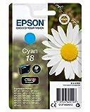Epson Orginal 18 Tinte Gänseblümchen, XP-305 XP-402 XP-215 XP-312 XP-315 XP-412 XP-415 XP-225 XP-322 XP-325 XP-422 XP-425, Normalverpackung, Standard , (cyan)