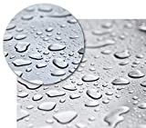 BEAUTEX Transparente Tischfolie - Hochwertige Tischdecke pflegeleicht und abwischbar - Geprüfte Tischschutzfolie - Protection Table Cloth - Größe wählbar, eckig 110 x 140 cm