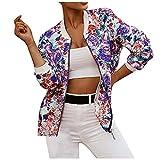Hirolan Damen Bomberjacke Ladies Light Bomber Jacket, leichte Fliegerjacke für Frauen in vielen Slim Fit Langarm Kurze Jacke mit Reißverschluss und Print Kleine Jacke Baseball-Mantel