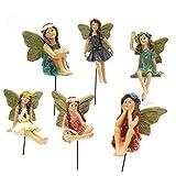 Mini-Figuren Elfe Set aus Kunstharz, Miniaturen Garten Landschaft Dekoration