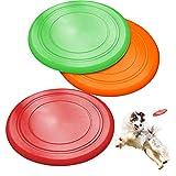 ZoneYan Scheibe Hund, 3 Stück Hundefrisbee Weich, Hunde Frisbee Kautschuk, Weiche Hunde Frisbee, Gummi Frisbee Hund, Hundespielzeug Frisbee, Dog Disc Schwimmt, für Hunde Aller Größen