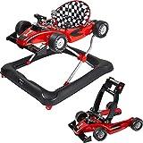 ib style® LITTLE RACER | 2 in 1 | Gehfrei | Lauflernwagen | mit Licht- und Soundeffekten | EN 1273:2020 |Rot