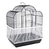 JGHF Vogelkäfig-Abdeckung, Nylon, leicht zu reinigen, Samenfangschutz, Vogelkäfig-Zubehör, luftiges Netz, für Papageien, Vogelkäfig-Netz (klein, weißer Vogelkäfig)