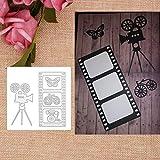Stanzform Metallrahmen Schneideisen Präge Stencils, Filmkamera Metallzerspanung Die Schablone DIY Scrapbooking Papierkarte Album-Dekor -