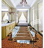Bild Wohnzimmer Großkreative Risse Im 3D-Stereoboden Der Kabelbrücke - 250 * 175 CmModern Thick Self Adhesive Floor Stick