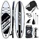AKSPORT SUP Board Set mit Kajaksitz  Aufblasbares Stand Up Paddle Board  10.6' 320x81x15cm   6 Zoll Dick   Premium Surfboard   Komplettes Zubehör