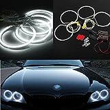 AUDEW Angel Eyes Set LED Standlicht Ringe Scheinwerfer 6500K Weiß CCFL für BMW E36E39E46 Models