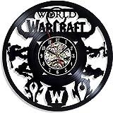 YYIFAN Wanduhr Vinyl Schallplatte Retro Uhr World of Warcraft,Handgefertigt Vintage Style Geschenk Wanduhr, Home Dekorationen Tolles Geschenk,30