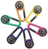 GXT 6 x Outdoor-Kletter-Kompass-Karabiner, selbstschließend, Karabinerhaken für Reisen, Wandern (zufällige Farben) Anleitung