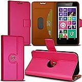 Seluxion Schutzhülle mit 360 Grad Standfunktion-S, Pink, Fuchsia, für Nokia Lumia 630