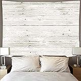 Weißer Block Holzplanke Textur Retro-Stil Tapisserie Kunst Hippie Wandbehang psychedelische Strandtuch Hintergrund Stoff Tapisserie A2 73x95