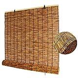 PNAYK Hebetyp Bambus Raffrollo Rollo, Natürlich Umweltfreundlich Materialien Hochwertige Reed Vorhang für Terrasse Pavillon Atmungsaktiv Holzjalousien,150×250cm (59×99 in)