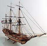 Holzschiff Modellbausatz, Maßstab 1/50 Simulation Klapperschlangenschiff Holzmodell, Modellflugzeugbausätze Für Erwachsene-Blau