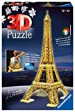 Ravensburger 3D Puzzle 12579 - Eiffelturm bei Nacht - 3D Puzzle für Kinder und Erwachsene, Wahrzeichen von Paris im Miniatur-Format, Leuchtet im Dunkeln