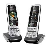Gigaset C430HX Duo - 2 DECT-Telefone schnurlos für Router - Fritzbox, Speedport kompatibel - 1,8 Zoll Farbdisplay - Direktwahltasten, schwarz-silb