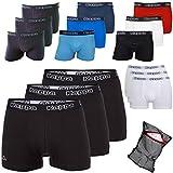 Kappa Herren Boxershorts ZiATEC Edition | Unterhose für Herren, S-5XL mit praktischem Wäschenetz, 3er, 6er und 9er Packs - Männer-Unterwäsche, Farbe:3 x schwarz/schwarz, Größe:XXL