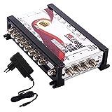 MK Digital MV 908 Multischalter, Multiswitch SAT Verteiler 9 auf 8 kaskadierbar (FullHD, HDTV, 4K, UHD, 8K)