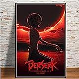 Kentaro Miura Berserk Anime Poster Wandkunst Malerei Nordic Leinwand Bild Hd-Drucke Moderne Wohnzimmer Wohnkultur 50x70 cm (19.68x27.55 in) E-070