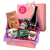 Feinkost-Geschenkset französische Spezialitäten – Gourmet Box Frankreich als Präsentkorb oder Geschenkkorb für Männer und Frauen – Frische Delikatessen mit Wein und Terrine