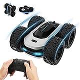 EACHINE EC10 Stunt Ferngesteuertes Auto für Kinder RC Car Offroad 2.4GHz Demofunktion 360° Spin und Flip Spielzeugauto Drinnen und Draußen Geschenke für Jungen Mädchen(Silbrig)