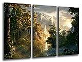 Wandbild - Der Herr der Ringe, 97 x 62 cm, Holzdruck - XXL Format - Kunstdruck, ref.26222