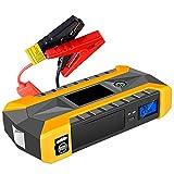 OLDSAN Multifunktions Auto Starthilfe Starthilfegerät 12V Tragbare Autobatterie Praktisches Autozubehör für die Meisten Cartypes(4 USB + LED-Taschenlampe) 28000