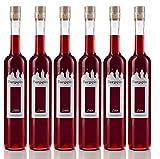 Burgspitz® 6 Flaschen à 0,5 Liter Beerenlikör Beerenliqueur, Kultbrand Nürnberg, Direkt vom Hersteller, Sensationell, Höchste Qualitäts Prinzipien Likör 500