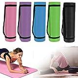 DayPlus Gymnastikmatte rutschfest Extradick 1,5cm Yogamatte Matte Pilates Matte 180cm Sportmatte Fitnessmatte mit Tragegurt - Rosa