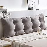 HAOLY Rückenlehnenkeil,kopfteil Bett Kissen,großes Dreieckiges Kissen,kopfteil Für Betten,Sofa Rückenpolster-g 180x15x50cm(71x6x20inch)
