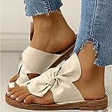 SXMY Sommersandale Damen Strandschuhe Outdoor Open Toe Atmungsaktive Sandalen Damen Rutschfester Bogen mit Flachem Boden Flip Flops,003,39EU