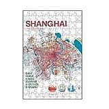 artboxONE-Puzzle S (112 Teile) Reise Stadtmotiv Shanghai Karte Map City - Puzzle Shanghai Karte Map