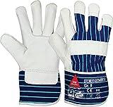 strongAnt - BREMERHAVEN-WINTER Arbeitshandschuhe aus Vollleder, Winter-Handschuhe, Sicherheitshandschuh - TÜV GS-Größe:8