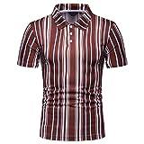 KXZD Polohemd Poloshirt Gestreift Herren Poloshirt Männer Basic Hemd Polo Shirt Kurzarm Slim Fit Kurzarmhemd Sweatshirt T-Shirt Herrenhemden Herren Gestreiftes Shirt Baumwolle Leicht Basic