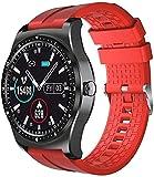Smart Watch Herren Damen Fitness Tracker Ip68 Leben Wasserdicht Pulsmesser Anruf Nachricht Erinnerung für iOS Android Noble/Green-A-A-Ç