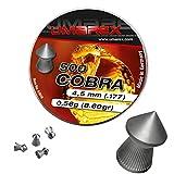 Umarex Premium Cobra Spitzkopf 4,5mm Luftgewehrkugeln für Luftdruckwaffen, Luftgewehr und Luftpistole Jagddiabolos von Eva Shop