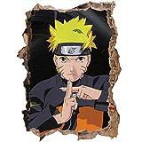 StickersZ Effekt Wandtattoo- Naruto Anime 3D Schlafzimmer Dekoration 80X120Cm/Aufkleber/Durchbruch/Selbstklebendes Wandbild/Wandsticker/Stein/Wanddurchbruch/Wandaufkleber/Tattoo-C_40*60CM