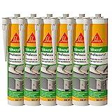Sika Corporation 528149 Sikacryl Pofessional Acryl-Dichtstoff Fugendichter überstreichbar, weiß, 6x 300
