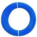St@llion 15 m x 1,65 mm runde Kunststoff-Rasentrimmer-Faden für Rasentrimmer (blau)
