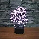 LED-Nachtlicht mit 3D-Illusionslicht Illusionslicht Sun Wukong Werbung Schreibtisch für Kinder Kinder Weihnachtsspielzeug Neuheit Anime Wohnkultur Mit USB-Aufladung bunter Farbwechsel