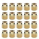 20Pcs Extruder Zahnrad 3D Drucker Zahnrad Messing Antriebszahnrad 3D-Drucker Extruder Zahnrad 5mm für MK7 MK8 Extruder 26/40 Zähne(26 Zähne)