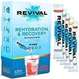 Revival Isotonisches Getränkepulver Elektrolyt Drink - Gesundheits- und Sportgetränk – Multi Pack 12 Sticks