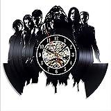 LittleNUM Vinyl-LP Wanduhr Wanduhr Schwarz Ornament Für Freunde, die wie Harry Potter um besonderes Geschenk Mute Wanduhr
