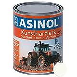 ASINOL RAL 9010 reinweiß 1.000 ml Kunstharzlack Farbe Lack 1l Liter D