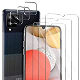 ivencase für Samsung Galaxy A42 5G Panzerglas Schutzfolie [3 Stücke] + Samsung Galaxy A42 5G Kamera Panzerglas [3 Stücke], Blasenfrei Anti-Staub Anti-Öl Display