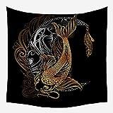 Mandala Wandteppich Hexerei Wandbehang Boho Dekoration Astrologie Sonne psychedelischen Hintergrund Stoff A12 150x200cm